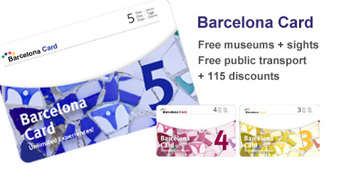 Barcelona Card for 3, 4 or 5 consecutive calendar days