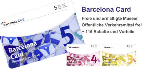 Barcelona Card - Rabatte, freie Eintritte, freie ÖPNV und vieles mehr